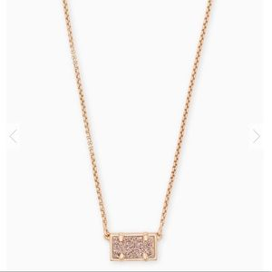Kendra Scott Rose Gold Druzy Pattie Necklace